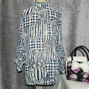 Mushkaby Sienna Rose Tops - Sienna Rose floral blouse medium